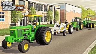 DRIVE YOUR TRACTOR TO HIGH SCHOOL DAY! (ROLE-PLAY) | FARMING SIMULATOR 1980'S