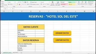 Excel - Como crear botones con macros para guardar registros Excel