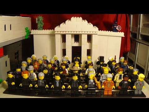 Presidents of The United States Minifigures and White House