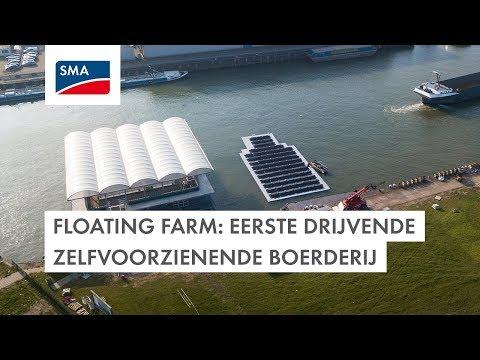 Floating Farm: eerste drijvende zelvoorzienende boerderij