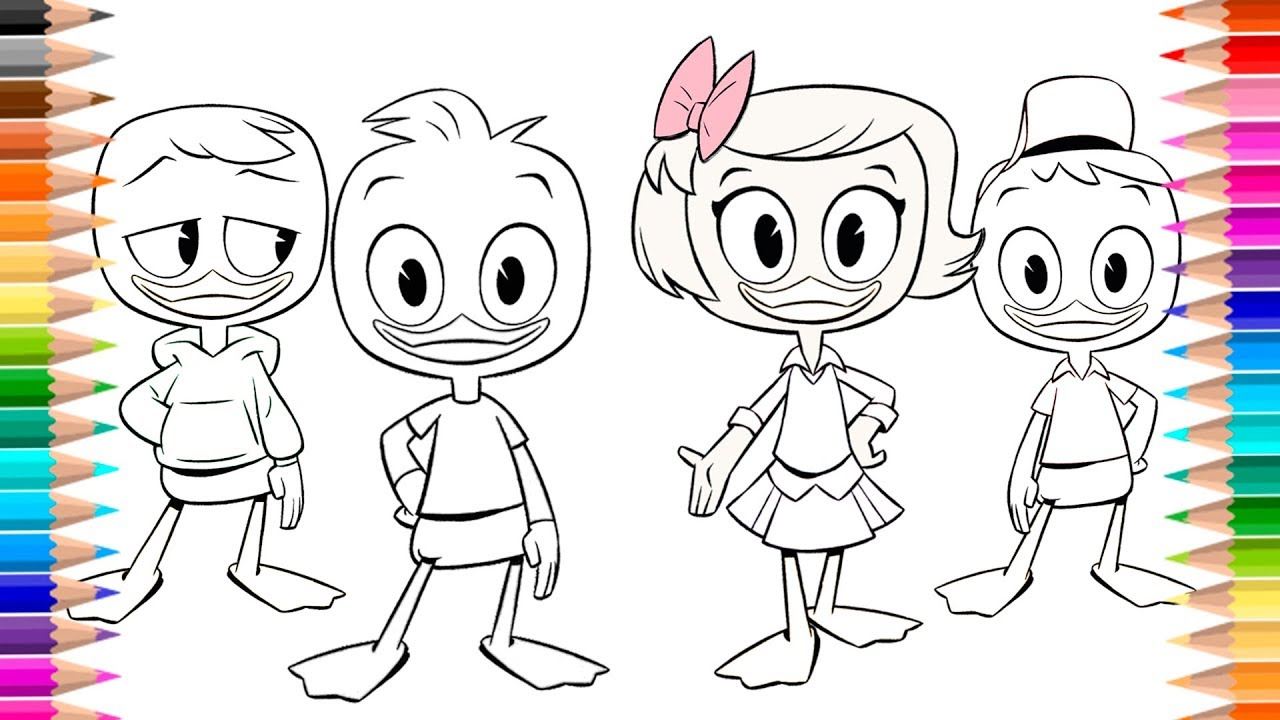Coloring book DuckTales Coloring