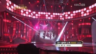 "[HD] 111230 2PM Stage with Uhm Jung Hwa ""Eyes"" [KBS Gayo Daejun]"