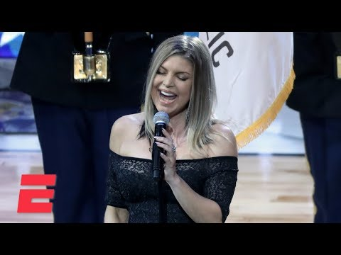 Fergie sings the national anthem at the NBA AllStar Game  ESPN
