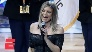 Fergie sings the national anthem at the NBA All-Star Game | ESPN