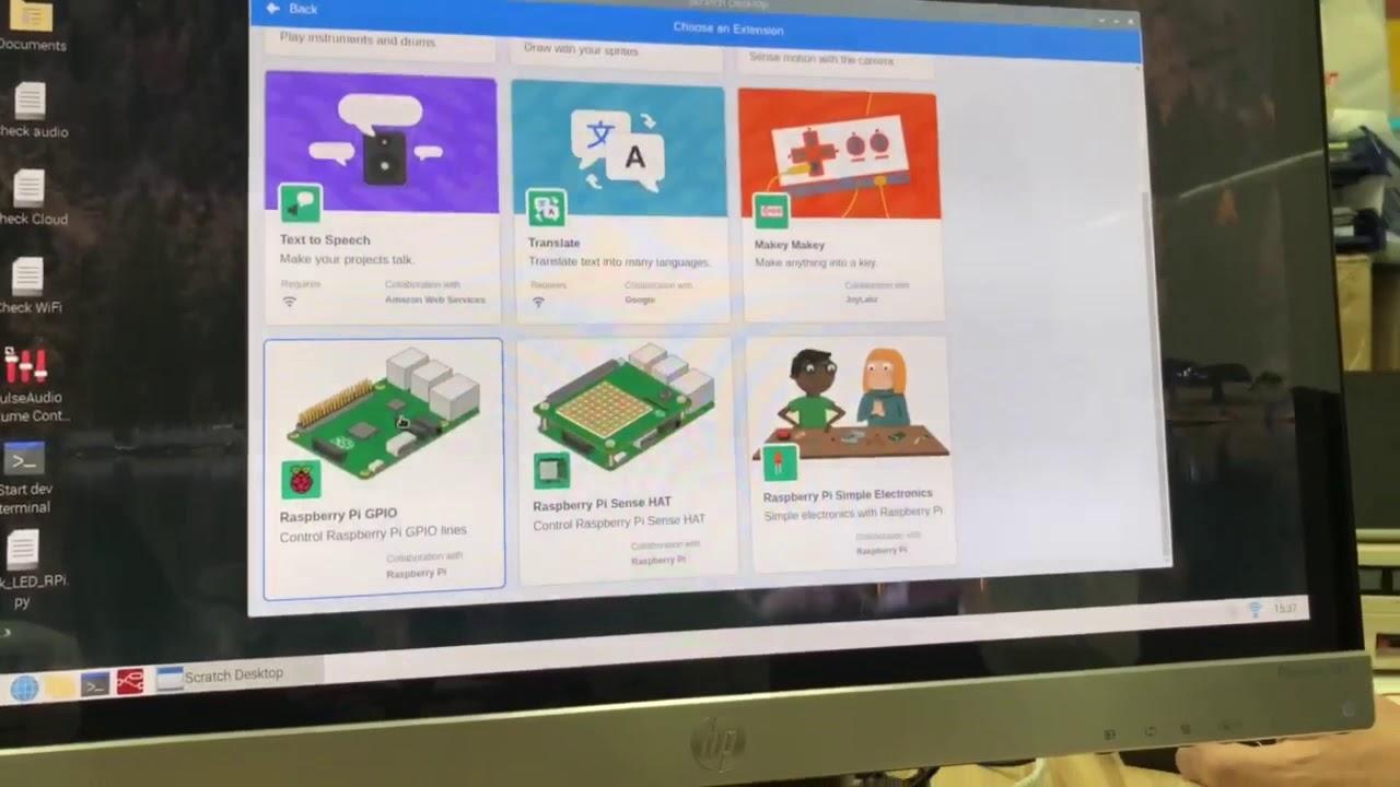 【Raspberry Pi 系列】(4)入門 |Raspberry Pi 4 Scratch 程式教學 | GPIO 控制LED|小學生也會寫的程式!| STEM - YouTube