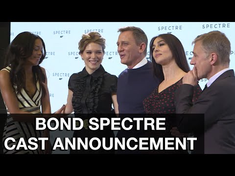 SPECTRE Cast Announcement - YouTube