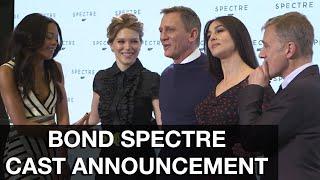 SPECTRE Cast Announcement - Daniel Craig, Andrew Scott, Christoph Waltz, Dave Bautista