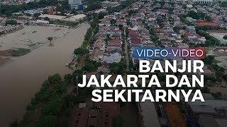 Deretan Video Banjir Jakarta dan Sekitarnya, Banyak Mobil Hanyut