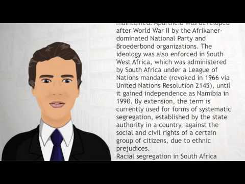 Apartheid - Wiki Videos