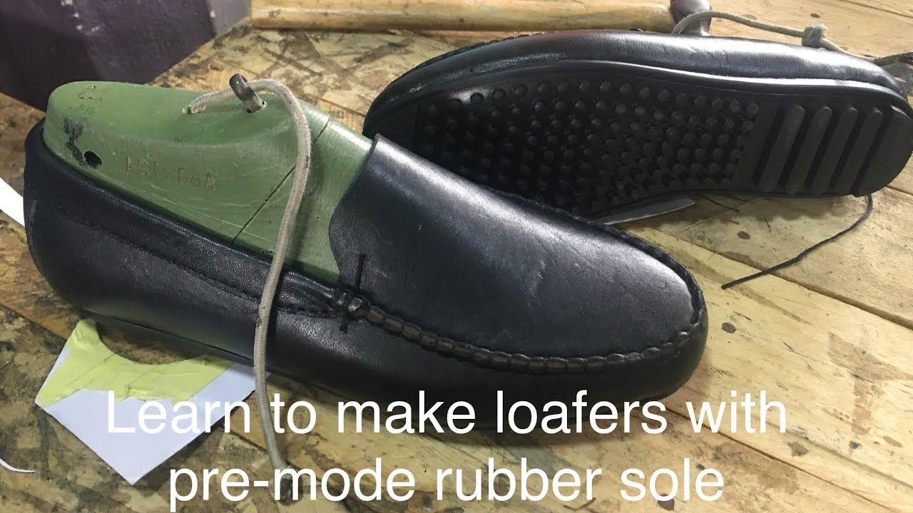 4b6ce9b86a5af Making loafers with pre-mode sole (online shoemaking & craft course)