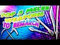 Top 5 Best Melee Weapons! Fortnite Save The World | Research In Patch 4.5 |