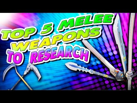 *OLD* Top 5 Best Melee Weapons! Fortnite Save The World | (CHECK THE PINNED COMMENT)