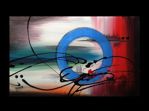 "Circular abstract painting / Abstract painting / Demonstration / ""Fragment by Roxer Vidal"