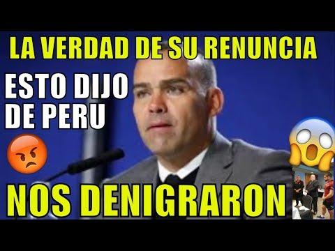ESTO FUE LO QUE DIJO DT DE VENEZUELA PROXIMO RIVAL DE PERU - DENIGRANTE: POR ESTO RENUNCIÓ DUDAMEL