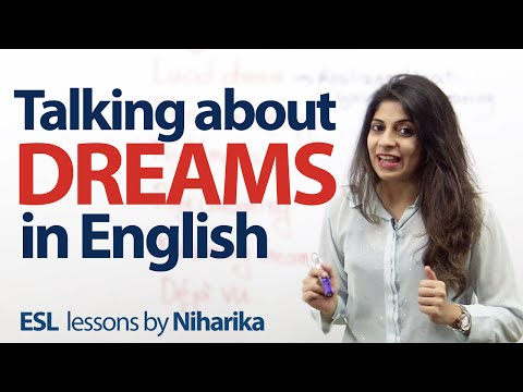 Talking about dreams in English – Free English speaking lesson