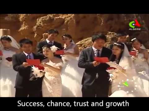The first chinese mass wedding in Algeria