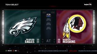 Madden NFL 17 | Week 6 Sim - Philadelphia Eagles vs Washington Redskins #Eagles #Redskins #madden