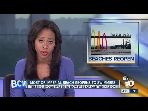 Closure over sewage-contaminated flows lifted at Imperial Beach