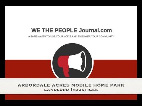 Lafayette CO Arbordale Mobile Home Park Landlord Injustices