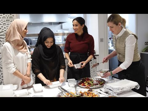 Meghan Markle Breaks Royal Protocol by Hugging Families at Community Kitchen