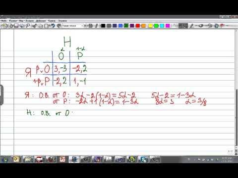 пример с суммой матричной игры нулевой