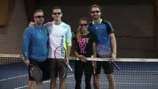 Tennis Sport Vision Training with Visionup Strobe Glasses