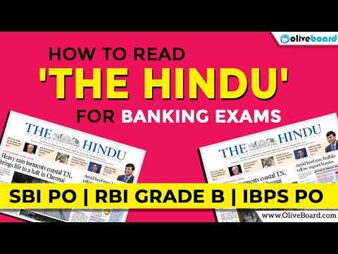 How to Read The Hindu for Bank Exam | SBI PO | IBPS PO | RBI Grade B