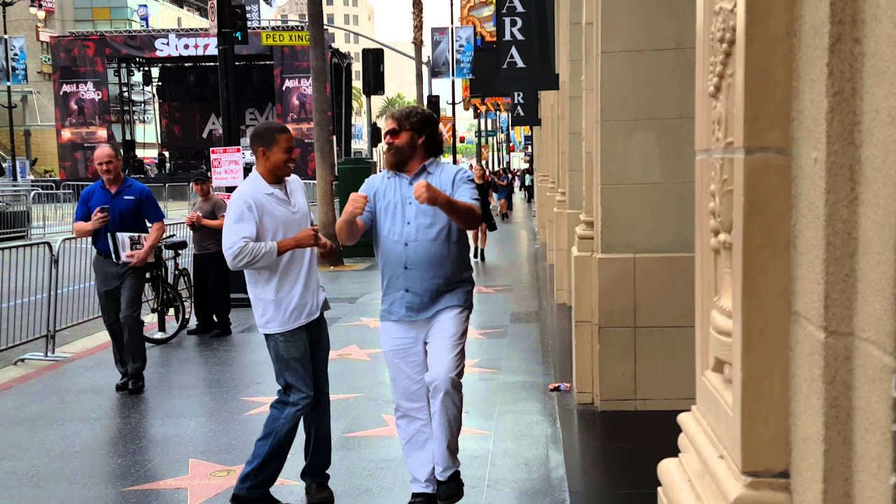 Zach galifanakis strolling down hollywood boulevard youtube zach galifanakis strolling down hollywood boulevard voltagebd Image collections