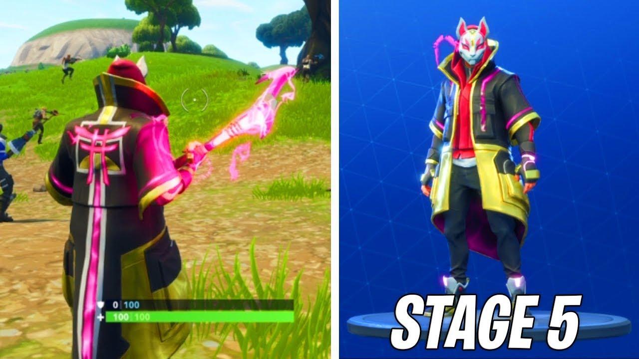 Max Stage  Drift Rift Edge Skin Gameplay Fortnite Battle Max Stage  Drift Rift