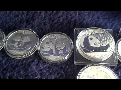 Silver complete Panda bullion stack