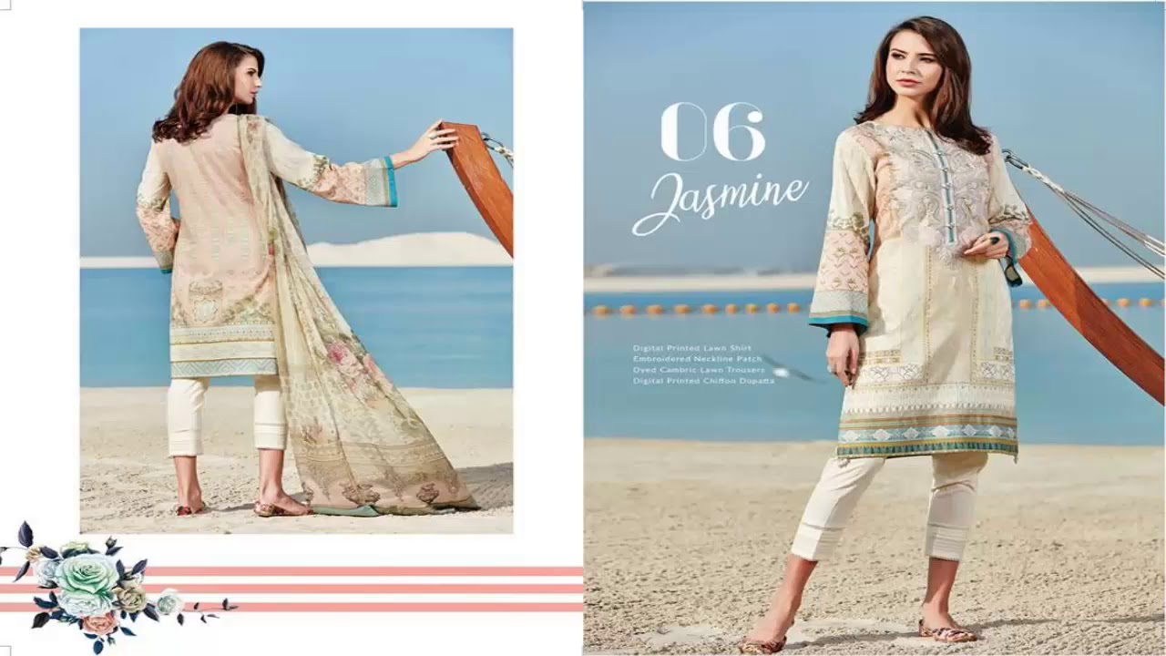 f9750e505f Baroque Isabella SS Embroidered Lawn Collection 2018 Vol 1 - YouTube