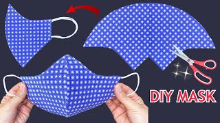 Very Easy New Style Breathable Mask Diy 3D Face Mask Sewing Tutorial Face Mask Making Ideas