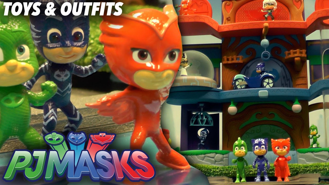 Pj Masks Toy Headquarters Light Up Figures And Outfits Masks Youtube