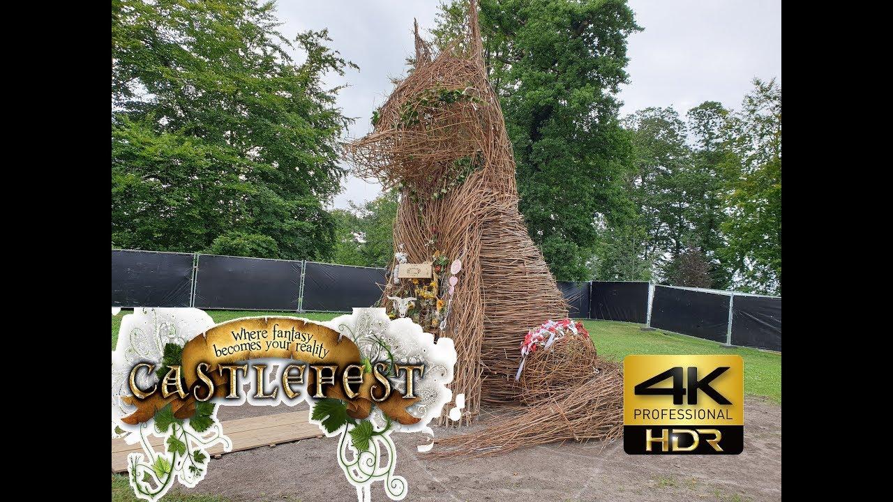 Castlefest 2019 Full Wicker Wolf Burning - YouTube