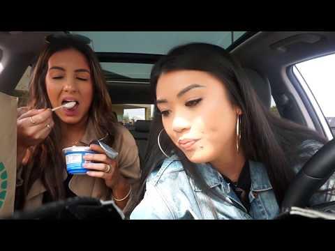 STATES VLOG | Vegan snacks haul | Kim and Sab