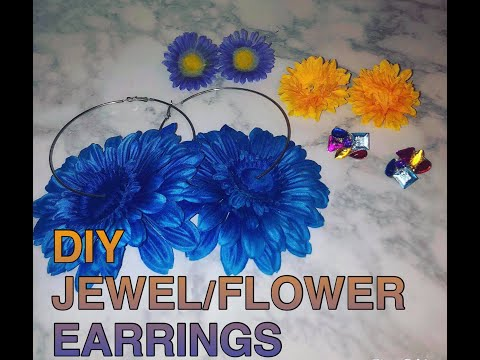 DIY Jewel/Flower Earrings