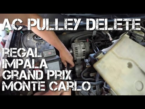 AC Pulley Delete Grand Prix - How to Remove AC Compressor