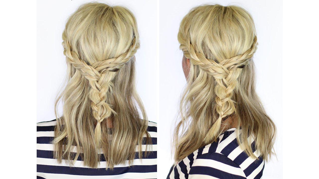 Beautiful Braid for Medium Length Hair - YouTube