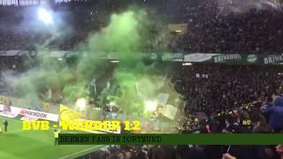 BVB vs. Werder, Bremen Fans in Dortmund 2017