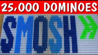 Famous YouTubers in 25,000 Dominoes! (Part 1)