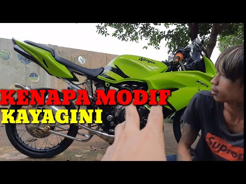 Ninja rr 150 modifikasi simpel