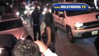 Kim Kardashian And Reggie Bush Leave Koi