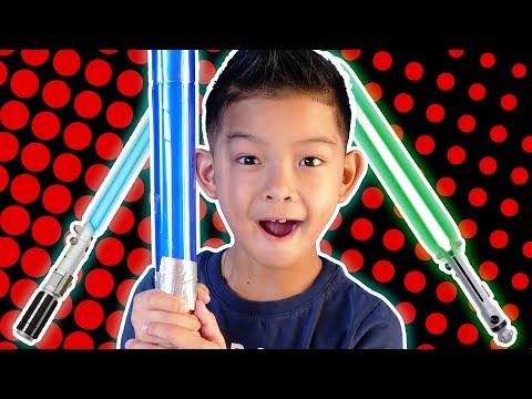 DIY LIGHTSABER! Kids How-to ~ Star Wars arts and crafts for kids! ~ pocket.watch jr.