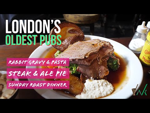 Visiting 3 Of London's Oldest Pubs To Find Best Traditional British Food!