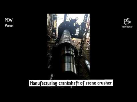 Manufacturing Stone Crusher Crankshaft