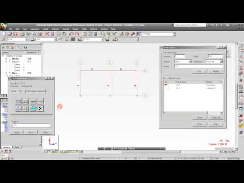 2D Frame Steel Structure Design in Robot Structural Analysis 2012