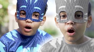 PJ Masks in Real Life: Catboy's BOO BOO Wrong Colors! 🎃 Halloween PJ Masks