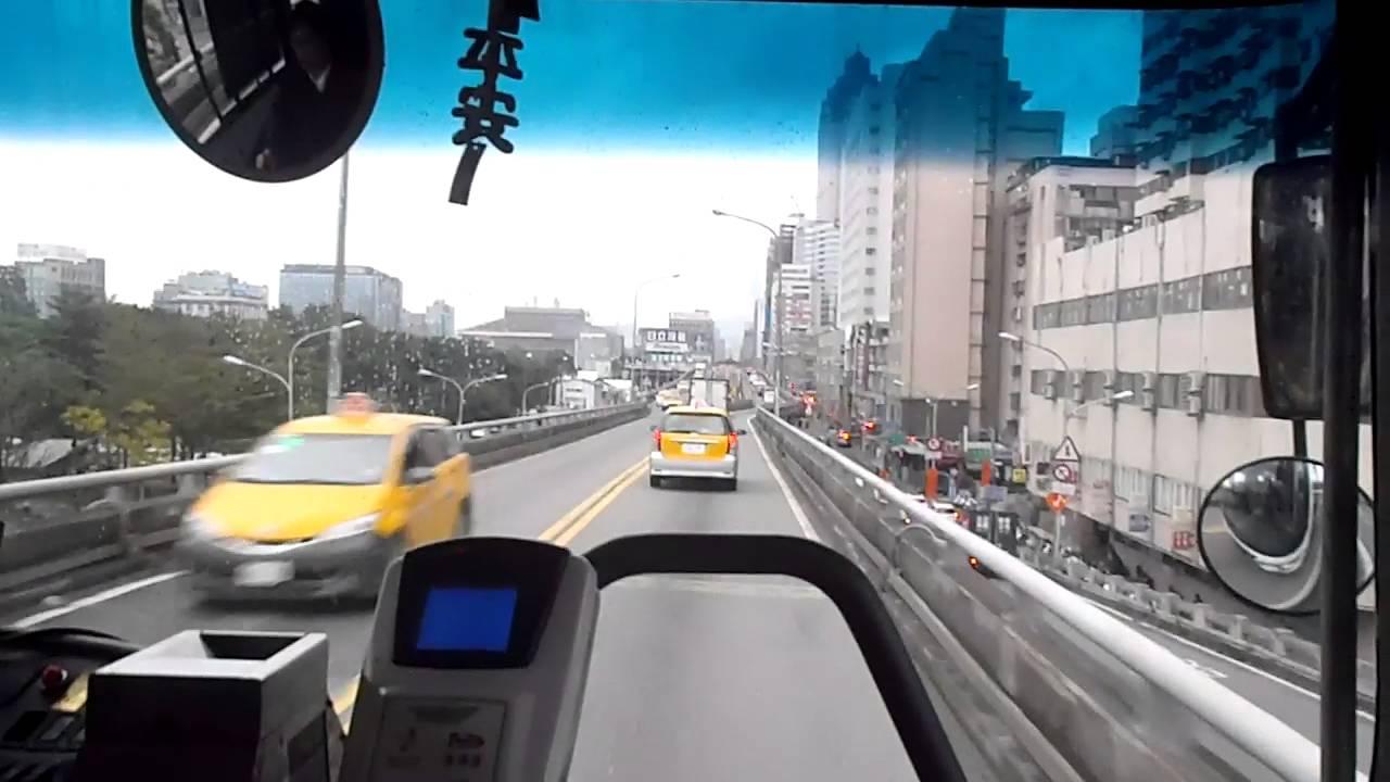 公車 299路線 中華路口-臺一線高架橋-忠孝橋-臺北車站 路程景 - YouTube