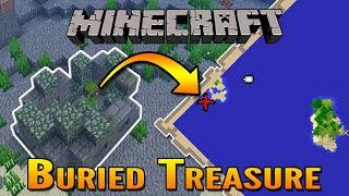 Minecraft Aquatic Update | How To Find Buried Treasure in