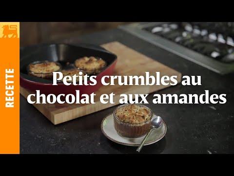 Petits crumbles au chocolat et aux amandes